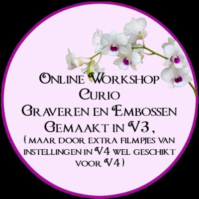 Online Workshop, Silhouette, Curio, Graveren, Embossen