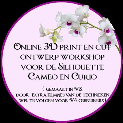Online Workshop, Print en cut, Silhouette, Cameo , Curio