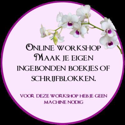 Online Workshop, Boekjes inbinden, schrijfblokjes maken